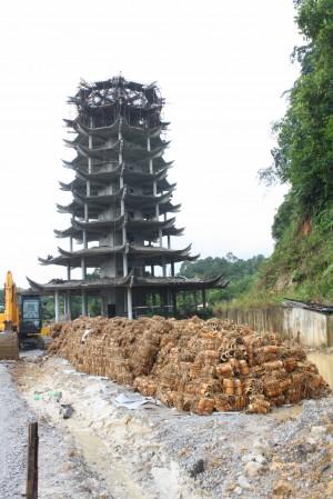 居士林佛教新村9层多宝佛塔雄伟及传统中国式建筑,必成为当地的一个地标。